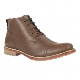 Men's Wheeler Brown Leather Boots