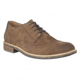 Men's Willington Brown Waxy Suede Brogues