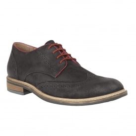 Men's Willington Navy Waxy Suede Brogues