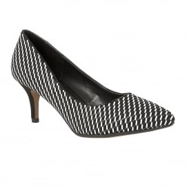 Petra Black Multi-Print Court Shoes
