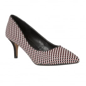 Petra Red Multi-Print Court Shoes