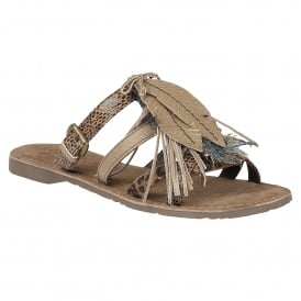 Pipit Natural Multi Leather Open-Toe Sandals