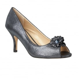 Quill Graphite Open-Toe Court Shoes