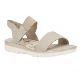 Abiana Beige Matt Open-Toe Sandals