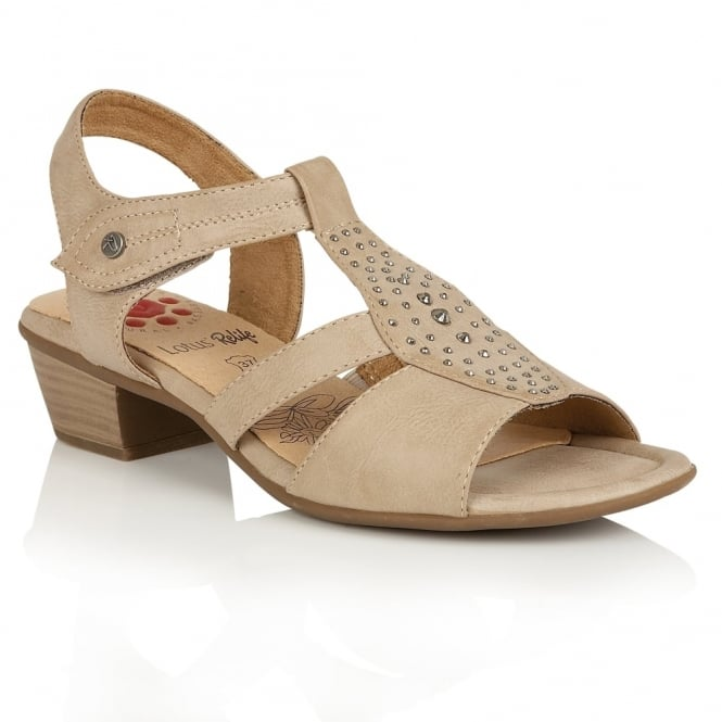 Lotus Relife Cynthia Beige Matt Open-Toe Sandals