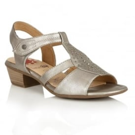 Cynthia Pewter Matt Open-Toe Sandals