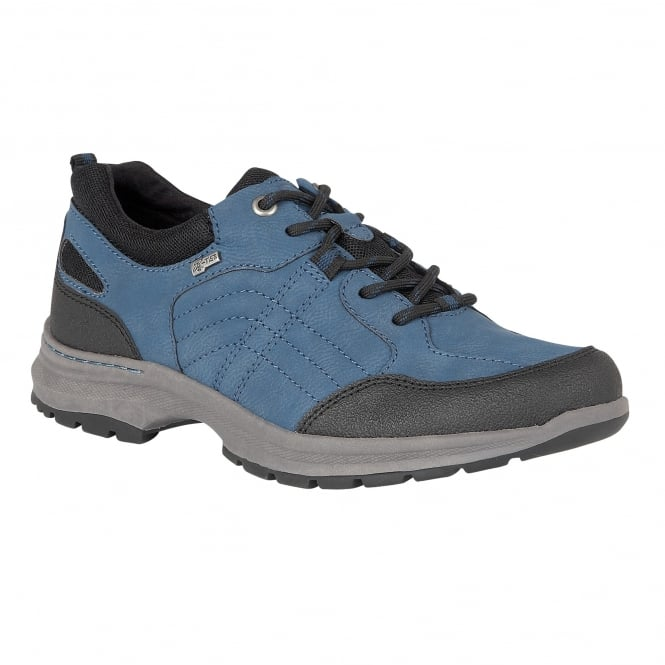 Lotus Relife Ivaria Blue & Black Matt Lace-Up Trainers