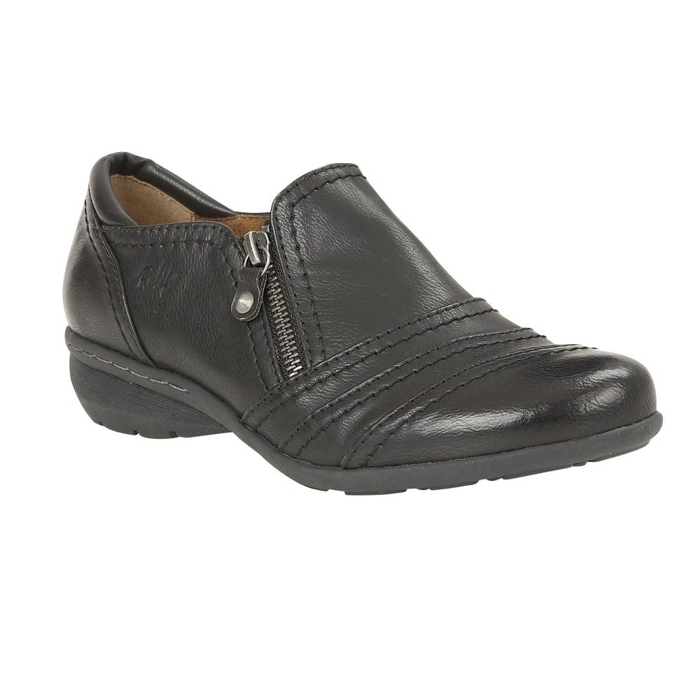 Ladies Bkack Shoes Lotus Kaley