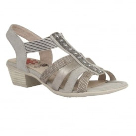 Magali Pewter Multi Open-Toe Sandals