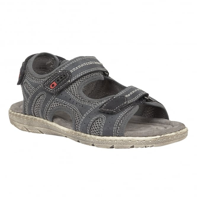 Lotus Relife Men's Cosford Navy Slip-On Sandals