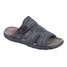 Men's Ellsworth Navy Mule Sandals