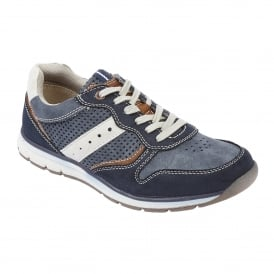 Men's Sampson Navy Multi Lace-Up Trainers