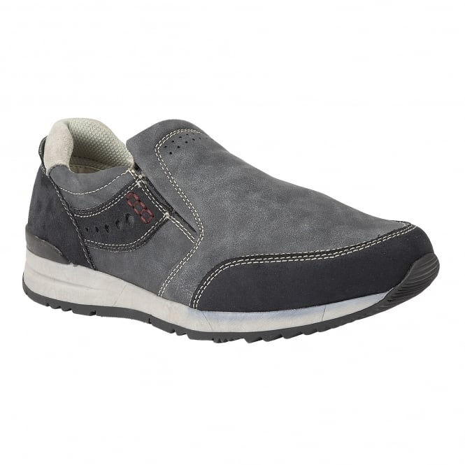 Lotus Relife Men's Stevens Navy Slip-On Shoes