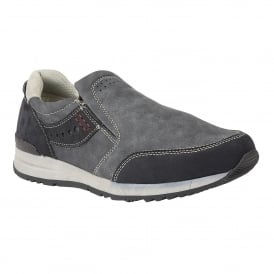 Men's Stevens Navy Slip-On Shoes