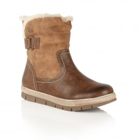 Rya Brown Matt Ankle Boots