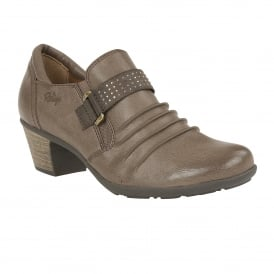 Shannyn Stone Faux-Leather Heeled Shoes