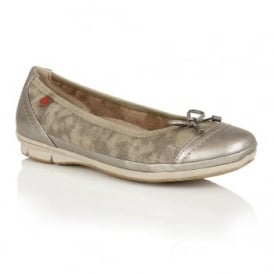 Tally Bronze Print Ballet Pumps