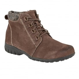 Santana Brown Suede Ankle Boots
