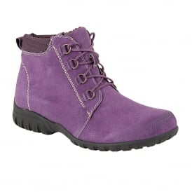 Santana Purple Suede Ankle Boots