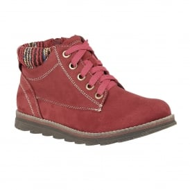Sequoia Raspberry Microfibre Ankle Boots