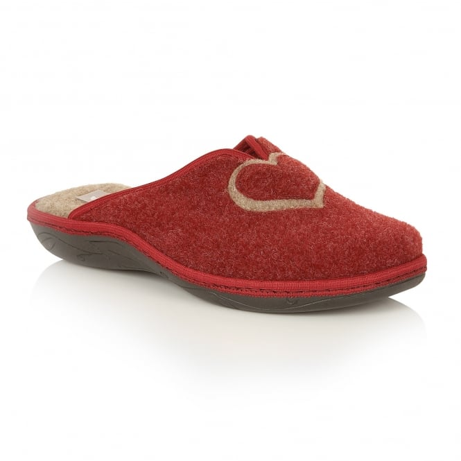 Lotus Slippers Augusta Burgundy Mule Slippers