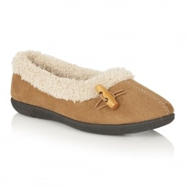 Heather Chestnut Slipper Shoes