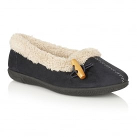 Heather Navy Slipper Shoes