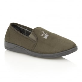 Men's Jack Khaki Micro-Suede Slippers