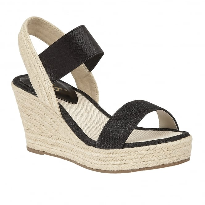 lotus tico black open toe wedge sandals sandals from