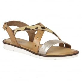 Tigerlily Tan & Leopard Multi Leather Strappy Sandals
