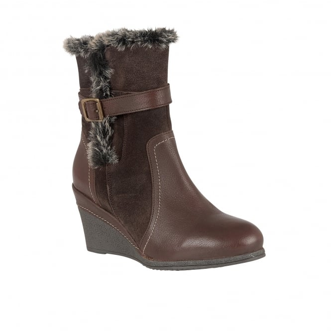 Lotus Varda Brown Leather Mid-Calf Boots