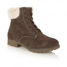 Vardy Brown Suede Ankle Boots