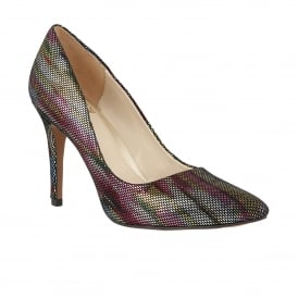 Vinca Multi Rainbow Leather Court Shoes
