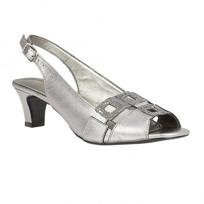 Lotus Zabry Light Pewter Leather Open-Toe Sandals