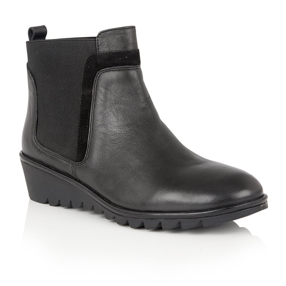 lotus zinnia black leather ankle boots boots from lotus