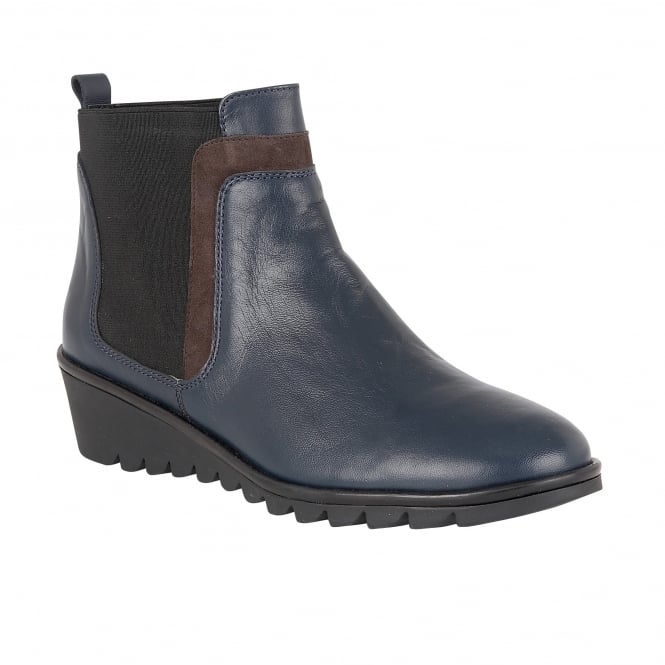 lotus zinnia navy leather ankle boots boots from lotus
