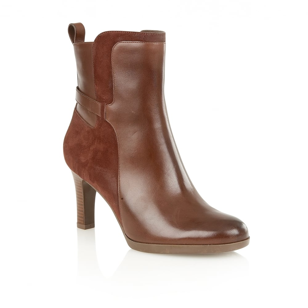 naturalizer shoes allison brown leather ankle boots