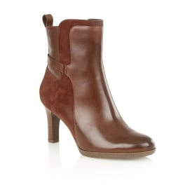 Allison Brown Leather Ankle Boots | Naturalizer