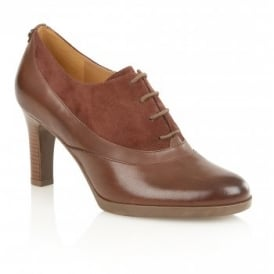 Audrey Brown Leather & Suede Shoe-Boots
