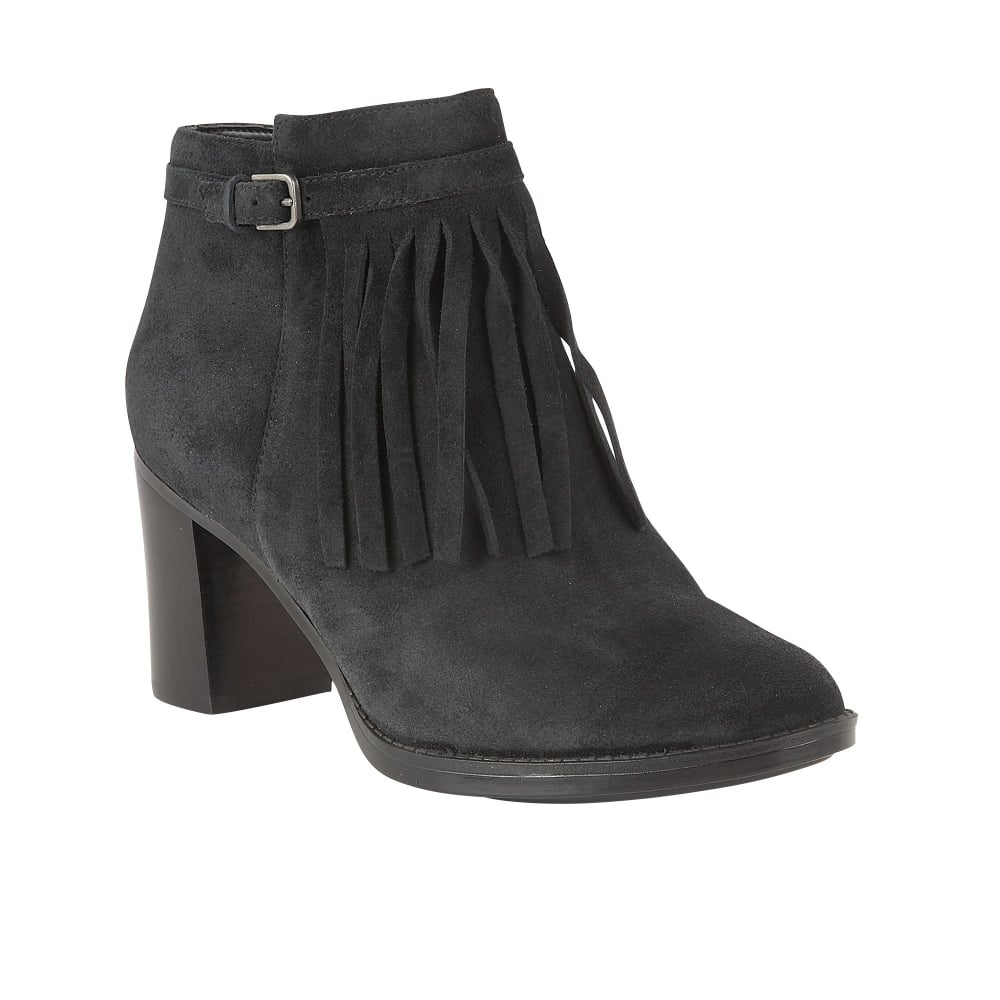 naturalizer shoes fortunate black suede heeled ankle boots