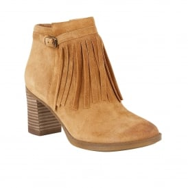 Fortunate Camelot Suede Heeled Ankle Boots | Naturalizer