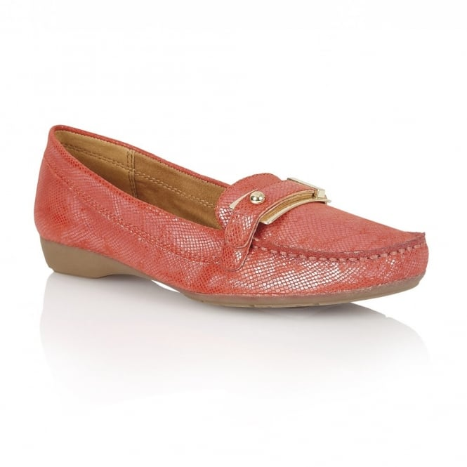 Naturalizer Shoes Gisella Cardinal Red Iguana Loafers | Naturalizer