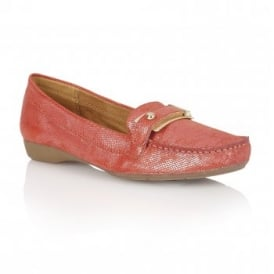 Gisella Cardinal Red Iguana Loafers