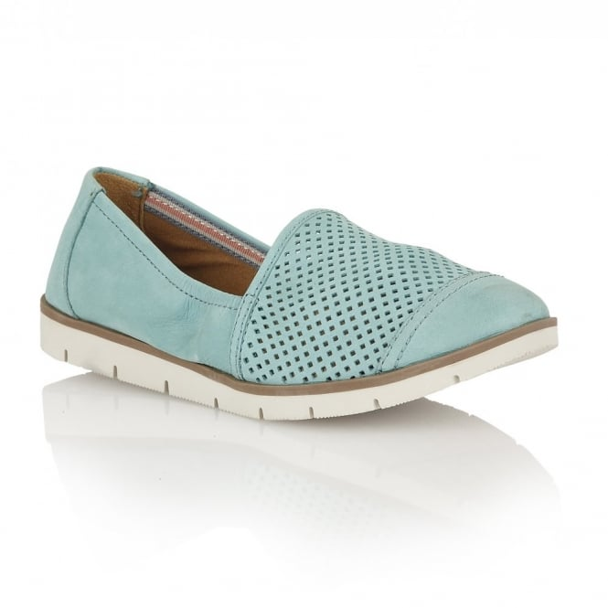 Naturalizer Shoes Ivan Turquoise Nubuck Casual Shoes