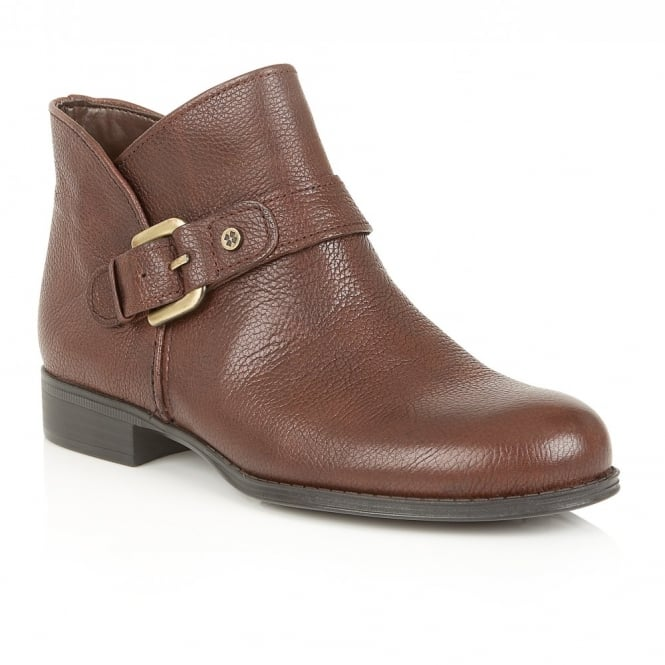 Naturalizer Shoes Jarret Brown Leather Ankle Boots