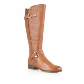 Jersey Banana Bread Leather Knee-High Boots