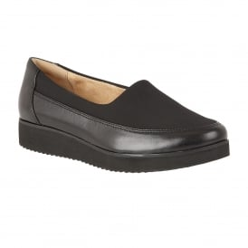 Neoma Black Leather Slip-On Pumps