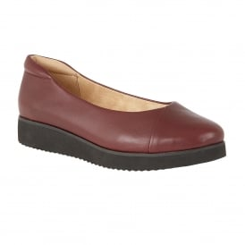 Nyne Bordeaux Leather Slip-On Pumps