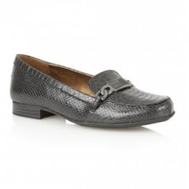 Radka Black Snake Loafers