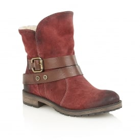 Talley Cordovan Suede & Leather Ankle Boots